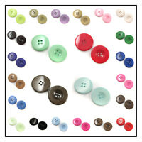 ROUND ACRYLIC BUTTONS: 36 SHADES and 8 SIZES: COLOURFUL SEWING SEW ON CRAFTS