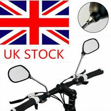 2PCS Bicycle Bike Cycling Handlebar Rear View Rearview Mirror Rectangle Back UK