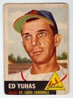 1953 Topps #70 Ed Yuhas St Louis Cardinals good condition $30 BV