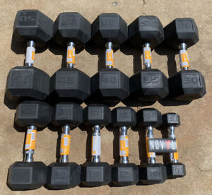 CAP & Weider Rubber Hex Dumbbells 5 - 50 lbs Lot ✅ Choose Singles or Pairs