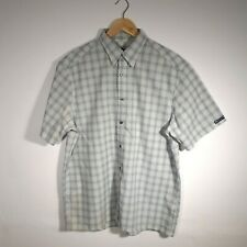 Mens Paul Smith White Checked Short Sleeve Casual Shirt Size L Large