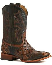 Mens STETSON leather cowboy boots UK size 7D BNWT