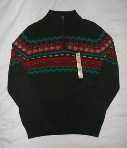 NEW Urban Pipeline Men's Gray Knit Sweater 1/4 Zip Pullover - L Large - NWT $50