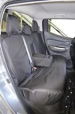 Mitsubishi L200 2015 Onward Series 5 Mk7 Black Tailored Front & Rear Seat Covers