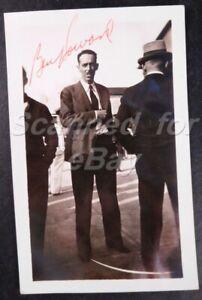1930s Ben Howard Signed Original Photo Aviation Design & Air Racing Pilot 841