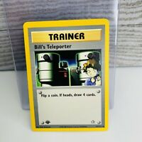 1x 1st Edition Bill's Teleporter 91/111 TRAINER Neo Genesis Pokemon Card