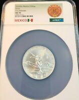 2020 MEXICO SILVER LIBERTAD 2 ONZA NGC MS 70 KEY DATE VERY SCARCE PERFECT COIN