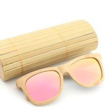 Purely Bamboo Wood Sunglasses Polarized Men Womens Retro Glasses Bamboo Box Case