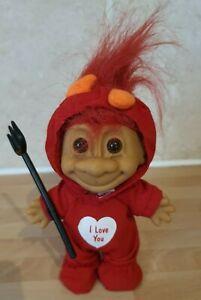 Vintage Russ Valentines Day li'l Devil Troll with Pitchfork Figure