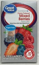 Great Value Vitamin Enhanced Mixed Berries Sugar Free Low Calorie Drink Mix