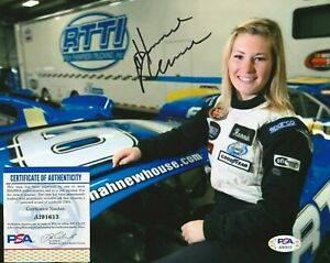 HANNAH NEWHOUSE Autographed Signed 8x10 Photo - PSA/DNA COA - SEXY ARCA Nascar