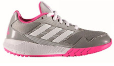 pretty nice 99f78 c02fa Adidas Alta Run K Running Shoes Grey Pink White BA9424 65 Girls Kids Youth  6.5