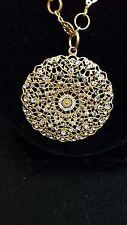 Catherine Popesco ~ Black & White Diamond Swarovski Crystal Necklace