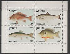 GB Locals - Staffa 3527 - 1979 FISH perf sheet of 4 unmounted mint