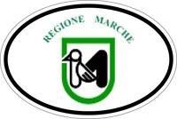 Autocollant sticker ovale oval drapeau code pays italie marches