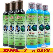 Jinda Herbal Hair Growth Anti Hair Loss Natural Shampoo x 3 + Conditioner x 3