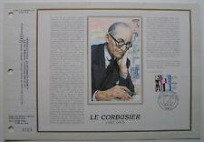 LE CORBUSIER   Feuillet CEF Timbre 1er jour SOIE - 1987