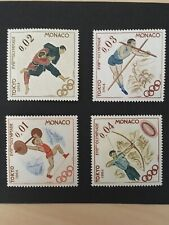 1964 Tokyo Olympics Postage Stamps From Monaco