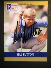 Hal Sutton - 1990 Proset Autographed PGA Golf card # 49 - Tour card