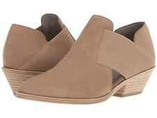 d4cf54190731 Eileen Fisher Women s Perry Ankle BOOTIES Earth Tumbled Nubuck Leather Shoe  7