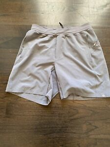 LULULEMON LICENSE TO TRAIN SHORTS - GREY, SIZE MEDIUM
