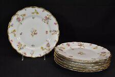 Limoges Elite Bawo & Dotter BWD29 Violets Pompadour Set of 6 Luncheon Plates