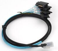 Mini SAS 36Pin SFF-8087 to SAS SFF-8482 Hard disk & Power x4 SAS Cable