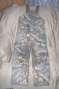 Boy Large Insulated Hunting Bib Overalls Camouflage Coveralls Realtree Xtra Camo