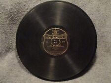 """78 RPM 10"""" Record Six Brown Brothers The Concourse March Emerson Records 10106"""