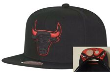 Chicago Bulls Snapback Cap In Black & Red