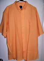 Jos A Bank Travelers Collection Men's 100% Linen Button Down Shirt Orange XL