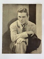 Vintage Tom Brown Paramount Pictures PR Photo Photograph Actor Original 1930s