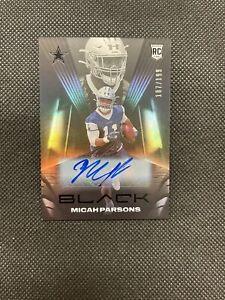 2021 BLACK Micah Parsons ROOKIE AUTO 187/199 Cowboys RC