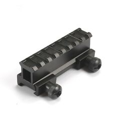 8 Slots Riser Base 20mm Picatinny Weaver Rail Mount For Airsoft Rifle Scope