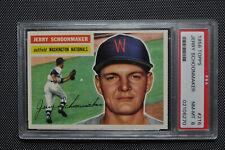 1956 Topps - Jerry Schoonmaker - #216 - PSA 8 - Gray Back - NM-MT