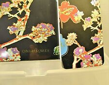 Black Colorful Floral Clipboard & Narrow Spiral Notebook & Pencil Case School