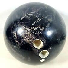 Vintage Ebonite Matrix  Bowling Ball 14 lb 6 oz Dark Gold Swirl        #84