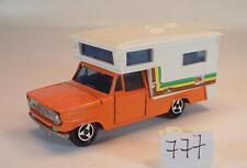 Majorette 1/80 Dodge Camper Wohnmobil orange mit Streifen Nr.2 #777