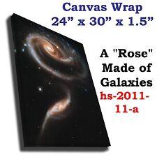 Rose Made of Galaxies Arp 27 Hubble JPL NASA space telescope canvas art print