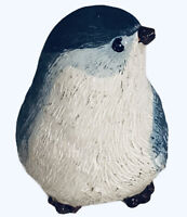 "BIRD FIGURE Blue & White Tiny Warbler Small  2""x2"" Resin ADORABLE Shelf Sitter"