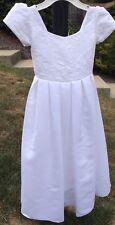 NEW White Formal pageant bridal flower girl dress size 6 Ret $135
