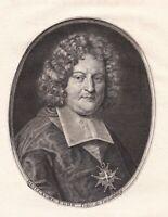 Portrait XVIIIe Guillaume-Egon de Fürstenberg Cardinal Metz Heiligenberg  1786
