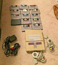 Original Working Super Nintendo SNES System Console w/ 13 games!