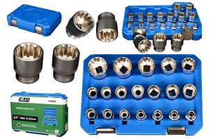 Gear Lock 19tlg 1/2 Zoll Vielzahn Steckschlüssel Satz 6-32mm FR2066N Farys