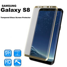 100% de vidrio templado genuino LCD Film Protector de pantalla para Samsung Galaxy S8 oro