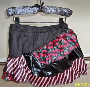 GIRLS MONSTER HIGH RED & BLACK PETTI SKIRT TUTU COSTUME DRESS S/M XS12484