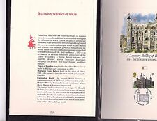 1st Day Issue Legendary Buildings of Britain Stamps proof cards book (gary 9