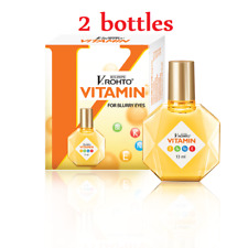 2 Bottle 13ml ROHTO Vitamin Eye Drops Improve Vision,Itching,Conjunctivitis- NEW