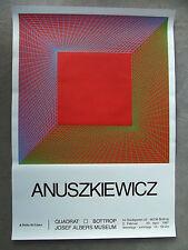 Anuszkiewicz, Richard-serigrafia-esposizione MANIFESTO - 1997-Saluti quadrato