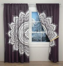 Indian Mandala Curtains Black And White Window Drapes Panel Boho Sheer Curtains